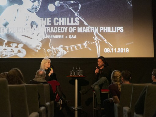 The Chills: journalist Karen Shook and co-director Rob Curry