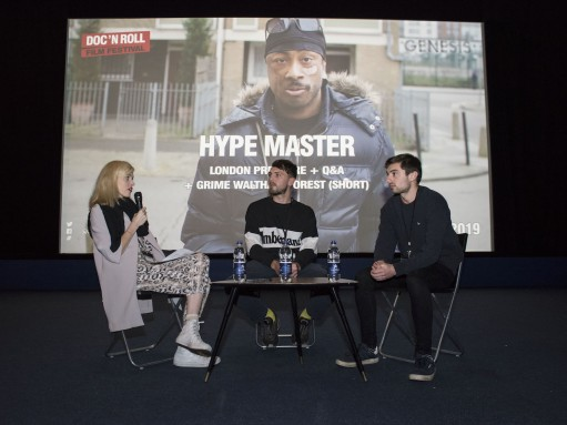 Hype Master: Doc'n Roll's Morven Masterton, director Isaac Reeder, editor Noah Harries
