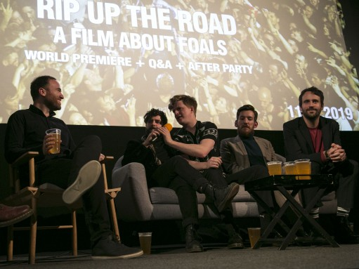 Rip Up the Road: director Toby L and Foals at the film's world premiere
