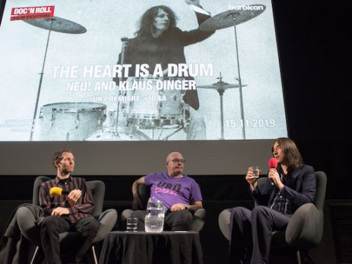 The Heart is a Drum: director Jacob Frössén, author David Stubbs, Bobby Gillespie (Primal Scream)